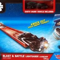"Hot Wheels Star Wars Blast & Battle Light Saber Launcher ""Darth Vader"""