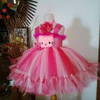 Baju pesta Anak Hello Kitty