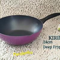 KIRIN Deep Frypan 24cm Nafiri Fry pan wajan BIBIR TUANG Teflon UNGU