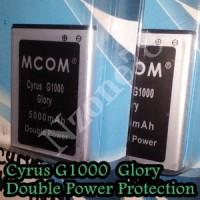 BATERAI CYRUS GLORY G1000 TBT9605 MCOM DOUBLE POWER PROTECTION