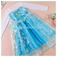 Jual Dress/Baju Gaun Elsa Frozen Organdi Murah
