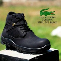 Sepatu Crocodile Dynamite Black Buck Safety Kulit