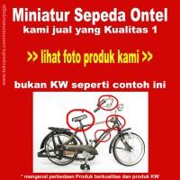 Harga miniatur sepeda ontel kualitas super bukan | WIKIPRICE INDONESIA