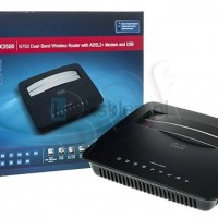 Linksys X3500-AP N750 Dual Band Wireless ADSL2+ Model + Router 4 Port