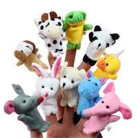 10 boneka jari seri hewan / binatang - animal finger puppets mainan
