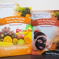 Masker Lumpur Qiansato Fruit and Vegetables Natural Mud Mask Peel Of