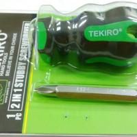 Obeng Cebol (- / +) TEKiRO Stubby Screwdriver