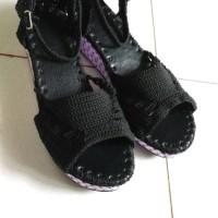harga Wedges rajut 5cm/ sepatu sendal rajut wanita Tokopedia.com