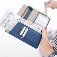 turis wajib punya Anti Skimming Passport Wallet Dompet banyak sekat