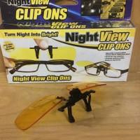 Jual glasses Night View, Kacamata Klip On kaca mata Anti Silau Saat Malam Murah