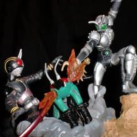 Gashapon HG Rider ~ Showdown! Kamen Rider Black Vs Shadowmoon BIB Ori