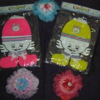 harga set topi kaos kaki bayi rajut casper Tokopedia.com
