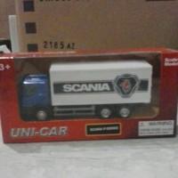 harga miniatur scania p-series truk box Tokopedia.com