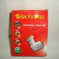 LNB Ku Band Offset Dual Out Skyview 0.2 DB (Untuk 2 Receiver)