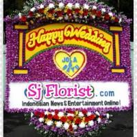 Bunga Papan Happy Wedding Motiv Dasar Bunga Full