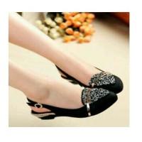 Sepatu Kerja Flatshoes Flat Shoes Wanita Black Hitam Wedding Murah Lv