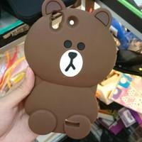 case boneka line brown oppo r7