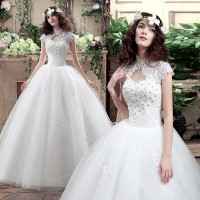 Wedding Dress Gaun Pengantin import bridesmaid model terbaru lengan