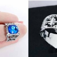 Cincin Diamond Biru Ciel Phantomhive Kuroshitsuji Black Butler Ring