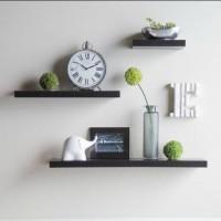 floating shelf 1set (3pcs) / ambalan / rak dinding minimalis
