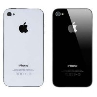 Back Cover iPhone 4/4G/4S (Black and White) GSM