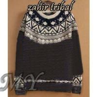 Zahir tribal(pakaian wanita sweater Rajut)AFG