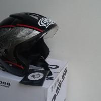 harga Helm Cargloss CRS Black Detox Red Silver Deep Black size M Tokopedia.com