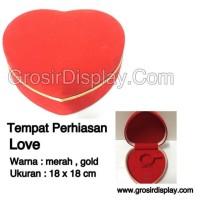 harga Kotak Display Perhiasan Love Besar Tempat Gelang Cincin Kalung Anting Tokopedia.com