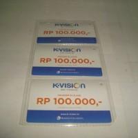Kartu Voucher Fisik K-Vision C Band dan Ku Band Rp 100.000
