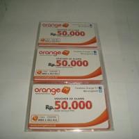 Kartu Voucher Fisik Orange TV Ku Band dan C Band Rp 50.000