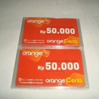 Kartu Voucher Fisik Orange TV Khusus C Band Rp 50.000