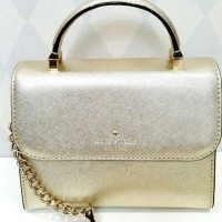 JUAL TAS KATE SPADE MINI NORA GOLD TB ORIGINAL ASLI