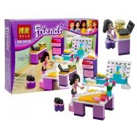 lego friends bela 10133 81pcs emma design studio mainan block friend
