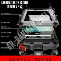 Casing case lunatik taktik extreme tempered glasz iphone 5 / 5s