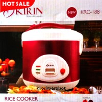 Magic Com Kirin - Rice Cooker Penanak Nasi Kirin KRC 188 2 L - Cherry