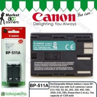 Battery Canon BP-511A (EOS 5D, 20D, 30D, 40D, 50D, 60D, Rebel-Series)