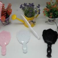 mirror set comb small/sisir/kaca rias/anna sui/rambut