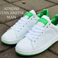 Sepatu Pria Casual Adidas Stan Smith White List Greey