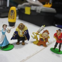 Beauty and The Beast Figure Set Mainan Pajangan