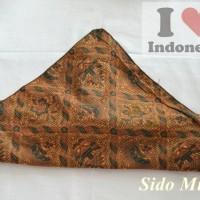 Udeng Jawa Sunda Ikat Kepala Topi Adat Destar Sido Mukti Batik Hitam