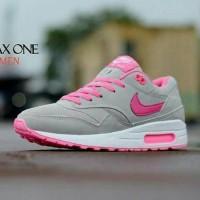 Sepatu Nike Airmax One Wanita Abu Olahraga Running Keren + Box ef5f29c034