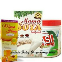 "Paket Pelancar Asi ""Mama Soya, Mama Honey & Asi Booster Tea"""