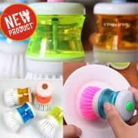 Jual Sikat cuci piring dengan dispenser sabun Alat Sikat Panci Inovatif Murah
