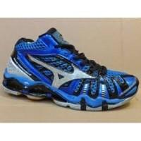 Sepatu Mizuno tr8 high premium biru