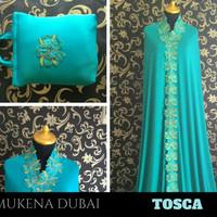 Mukena Dubai Cantik Mewah Elegan Murah Warna Hijau Tosca