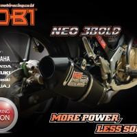 Knalpot Nobi /Nob1 NEO 3 BOLD motor bebek, bebek sport,matic lengkap