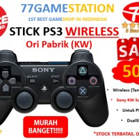 Stik / Stick PS3 Wireless (TANPA Kabel) Ori Pabrik (KW) >>> TERMURAH