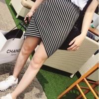 SJGGTIND Rok import,rok selutut,stripe skirt,rok garis-garis,rok motif