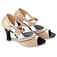 Sepatu Sandal High Heels Hak Tinggi Wanita Cewek BY197 Cream