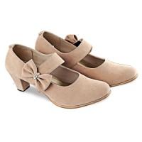 Sepatu Sandal High Heels Hak Tinggi Wanita Cewek BY195 Cream